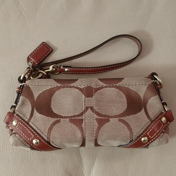 Coach Handbags - Coach tan/brown wrislet